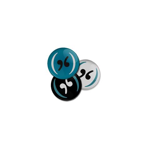 Kit 03 Buttons Pouca Vogal