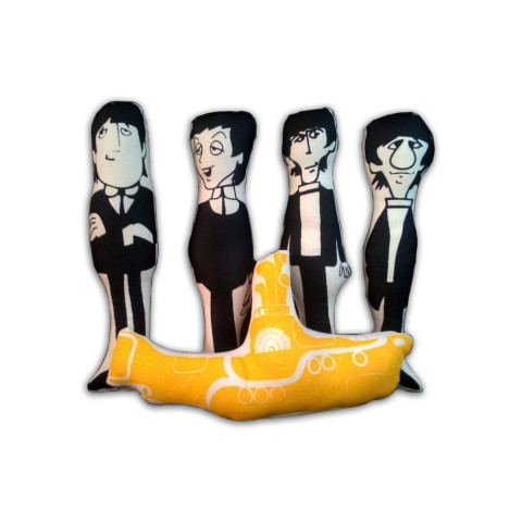 Conjunto Almofadas Beatles + Yellow Submarine