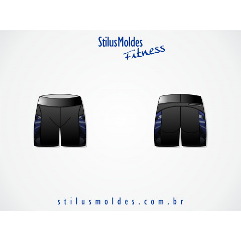 BERMUDA FITNESS COM RECORTES (FIT-MF87)