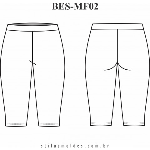 BERMUDA COTTON SEM COSTURA LATERAL (BES-MF02)