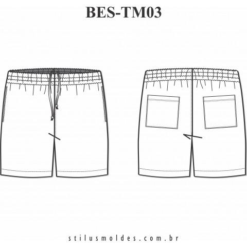 BERMUDA MASCULINA COM ELÁSTICO (BES-TM03)