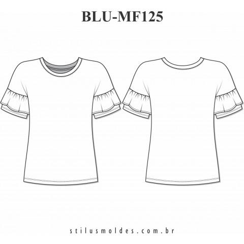 BLUSA MANGA COM BABADO (BLU-MF125)