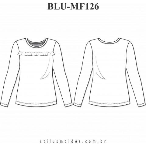 BLUSA MANGA LONGA (BLU-MF126)