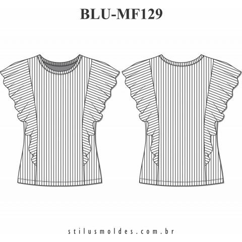 BLUSA COM BABADOS (BLU-MF129)
