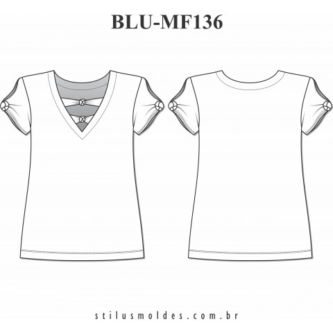 BLUSA MANGA CURTA (BLU-MF136)