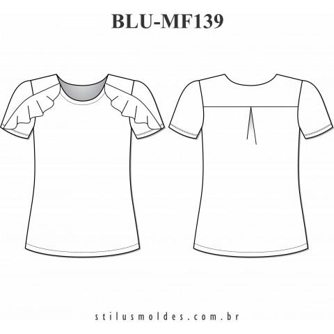 BLUSA COM BABADOS (BLU-MF139)