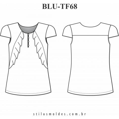BLUSA MANGA COPINHO (BLU-TF68)