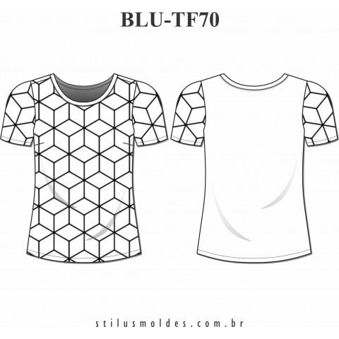 BLUSA DOIS TECIDOS (BLU-TF70)
