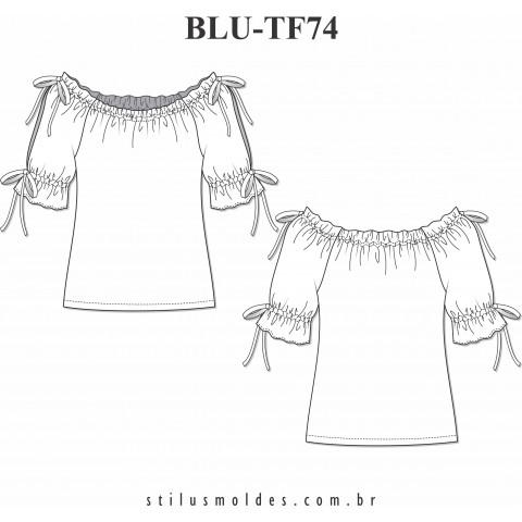 BLUSA MANGA RAGLAN (BLU-TF74)