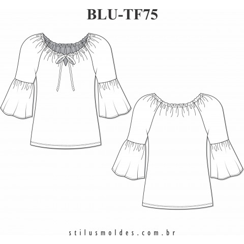 BLUSA MANGA RAGLAN ( BLU-TF75)