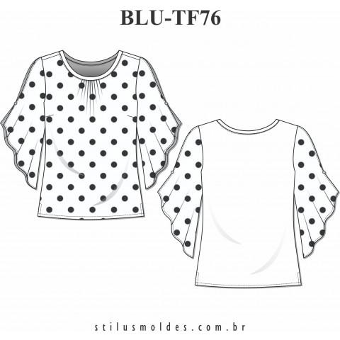 BLUSA 2 TECIDOS (BLU-TF76)