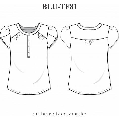 BLUSA MANGA TULIPA (BLU-TF81)