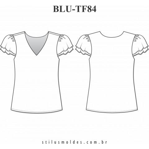 BLUSA MANGA COPINHO (BLU-TF84)