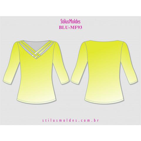 BLUSA FEMININA MANGA 3/4 (BLU-MF93)