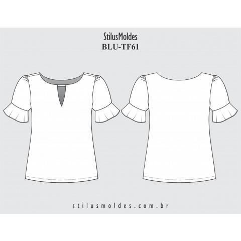BLUSA MANGA BONECA (BLU-TF61)