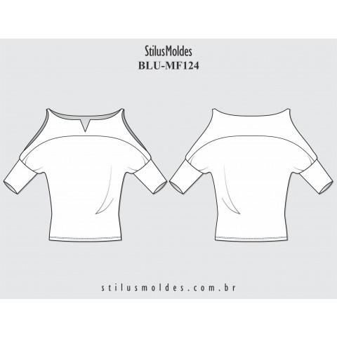 BLUSA MANGA MORCEGO (BLU-MF124)