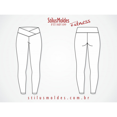 CALÇA LEGGING FITNESS CÓS TRANSPASSADO (FIT-MF109)