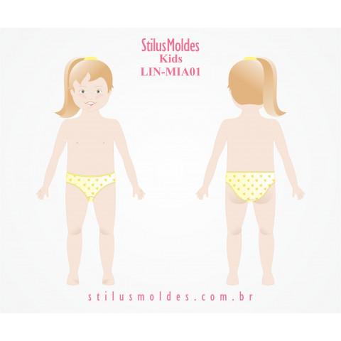 CALCINHA INFANTOJUVENIL COM ELÁSTICO DEBRUM ( LIN-MIA01)