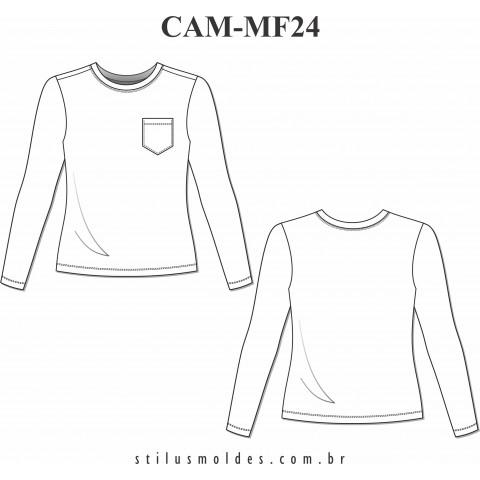 CAMISETA MANGA LONGA ( CAM-MF24)