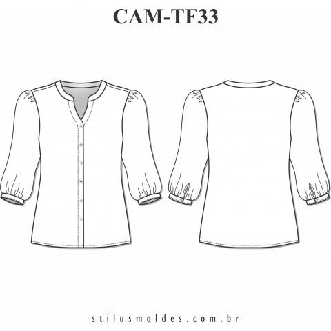 CAMISETE MANGA 3/4 BUFANTE (CAM-TF33)