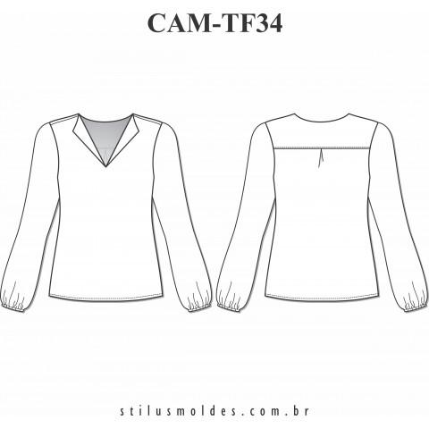 CAMISETE MANGA LONGA (CAM-TF34)