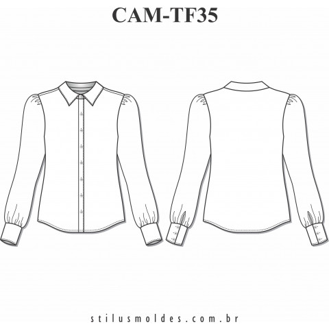 CAMISETE MANGA BUFANTE (CAM-TF35)