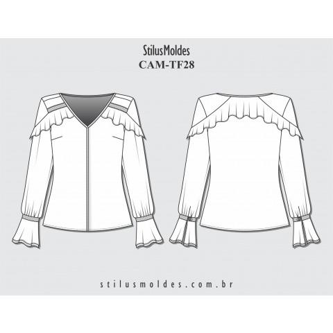 CAMISA COM BABADO (CAM-TF28)