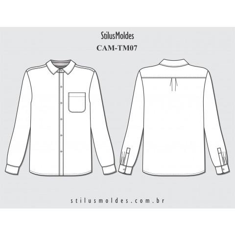 CAMISA MASCULINA TRADICIONAL (CAM-TM07)