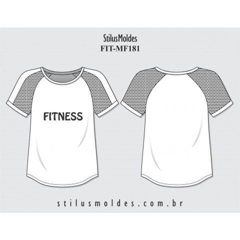 CAMISETA FEMININA FITNESS (FIT-MF181)