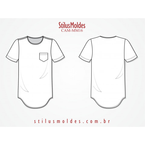 CAMISETA MASCULINA SLIM ALONGADA (CAM-MM16)