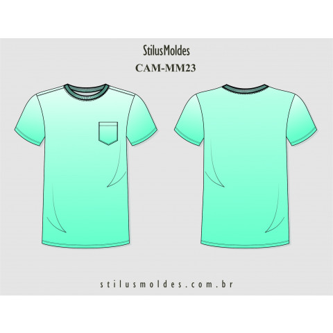 CAMISETA MASCULINA SLIM (CAM-MM23)
