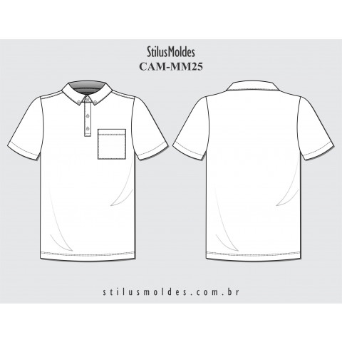 CAMISETA POLO COM COLARINHO (CAM-MM25)