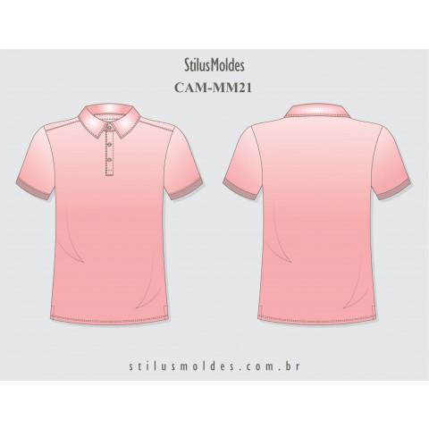 CAMISETA POLO SLIM COM COLARINHO (CAM-MM21)