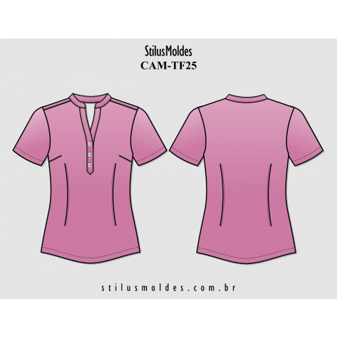 CAMISETE DECOTE V (CAM-TF25)