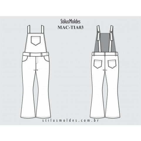 JARDINEIRA FLARE INFANTIL (MAC-TIA03)