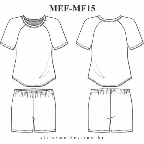 PIJAMA FEMININO RAGLAN (MEF-MF15)
