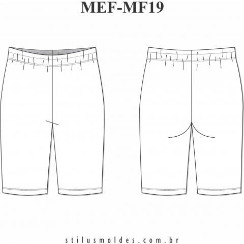 BERMUDA FEMININA (MEF-MF19)