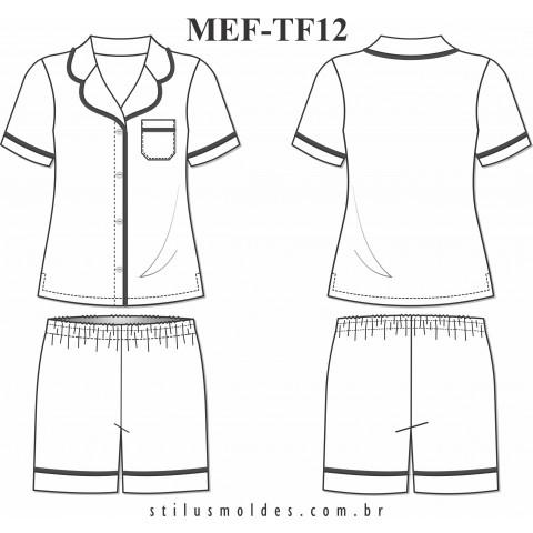 PIJAMA FEMININO (MEF-TF12)