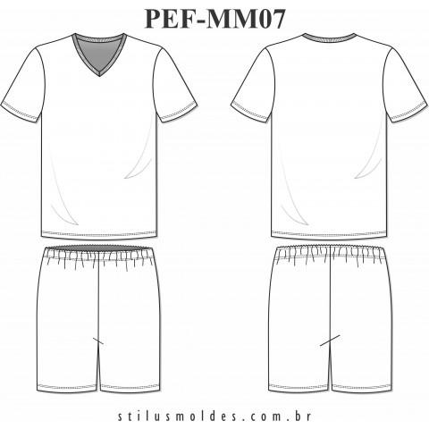 PIJAMA CURTO MASCULINO (PEF-MM07)