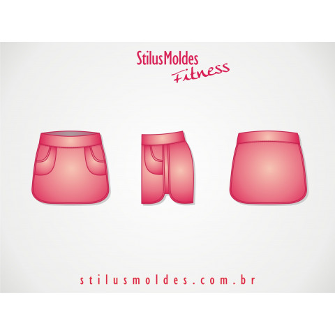 SHORTS SAIA FITNESS BARRA ARREDONDADA (FIT-MF43)