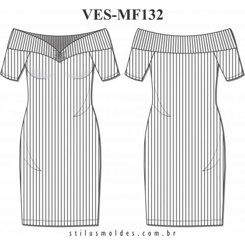 VESTIDO OMBRO À OMBRO (VES-MF132)
