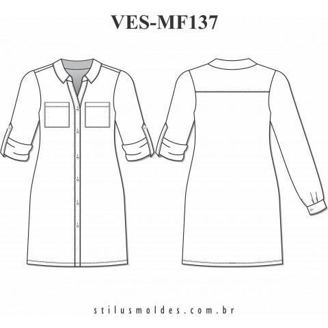 VESTIDO CHEMISIER (VES-MF137)