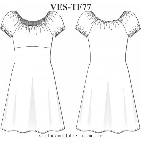 VESTIDO CIGANINHA (VES-TF77)