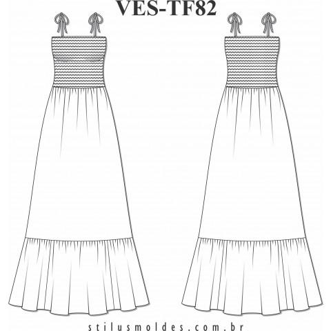 VESTIDO COM LASTEX (VES-TF82)