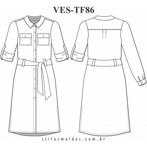 VESTIDO CHEMISIER (VES-TF86)
