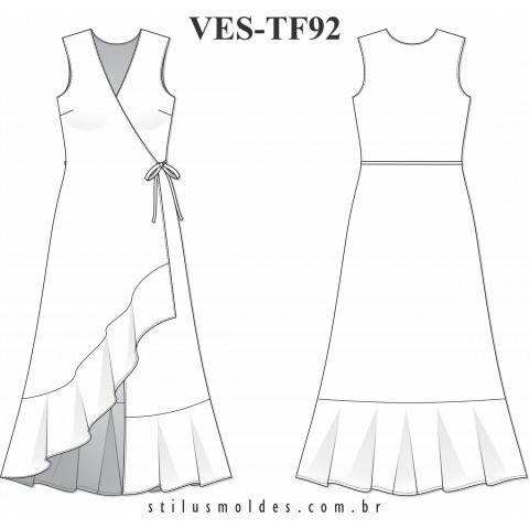 VESTIDO TRANSPASSADO (VES-TF92)
