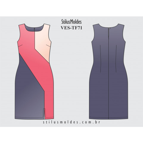 VESTIDO TRICOLOR (VES-TF71)