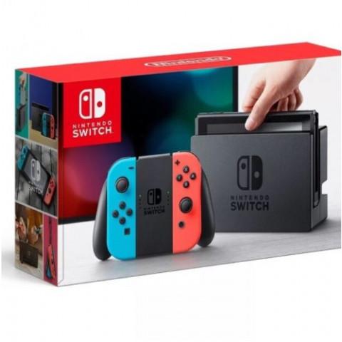Nintendo - Switch Neon 32gb Desb + Cartao de 128gb c/ até 35 Jogos a escolha