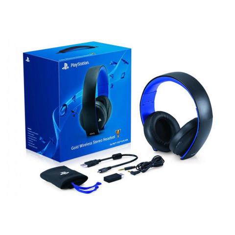 Sony - Gold Wireless Headset 7.1 Black