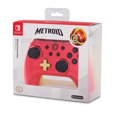 Switch - Pro Controle com Fio  Chrome - Metroid Power A